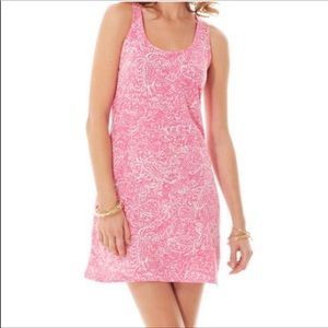 LILLY PULITZER Cordon Cotton Dress Pink White Mini